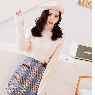white knit swater  winter