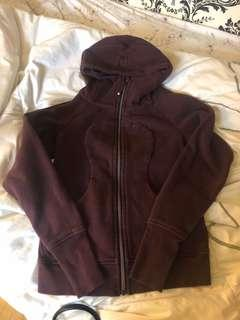 Lululemon Burgundy Zip Up