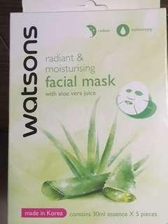 🚚 Watsons Radiant and Moisturising Facial Mask