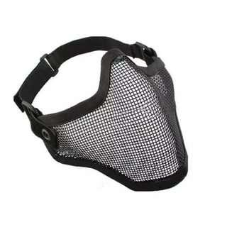 2 in 1 Protection Steel Mesh Face Mask with X400 UV Safety Goggles Airsoft, Paintball