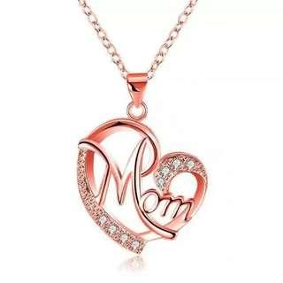 Mom Heart Brick Necklace