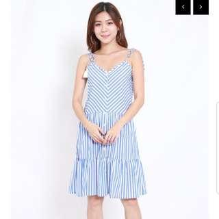 NEW Stripe Tassel Midi Dress