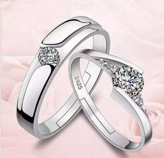Diamond Plated Silver Ring