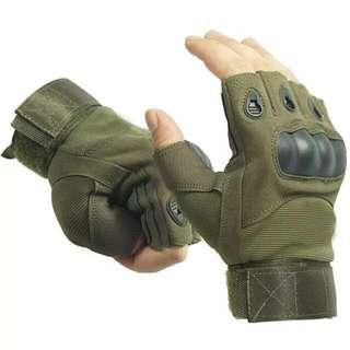 Outdoor Airsoft, Hunting, Cycling, Motorcycle, Driving, Tactical Fingerless Gloves
