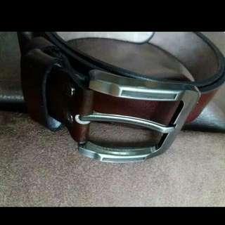 Leather belt handmade sabuk kulit asli