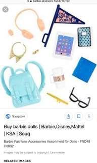Mainan aksesoris barbie tas murah
