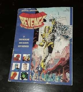 Vintage 1985 MARVEL  GRAPHIC NOVEL #17 Revenge of the Living Monolith