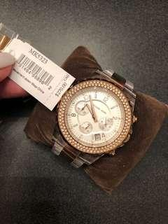 Michael Kors Rose Gold/Clear Watch