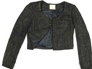 Gold dusted studs blazer