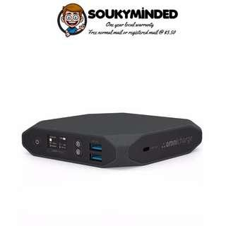 [IN-STOCK] Omnicharge 60W USB-C Power Bank – Omni 20 USB-C – High Powered Battery Pack for Laptops, Phones & More