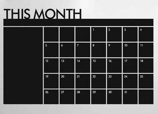 Chalk board calendar