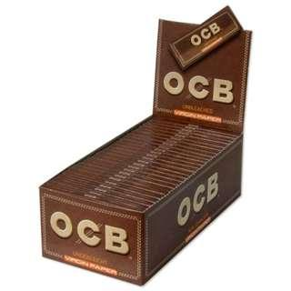 50包x50pcs. OCB VIRGIN Unbleached Rolling Papers / 70mm 手捲煙紙