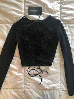 Pretty Little Thing Lace up Top