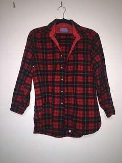 OVERSIZED FLANNEL THICK RED