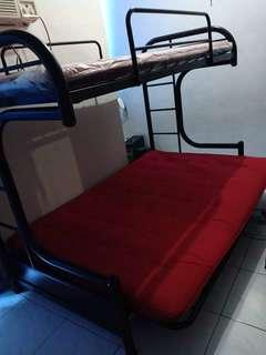 Double deck bed or bunk bed couch/sofa bed - foam included