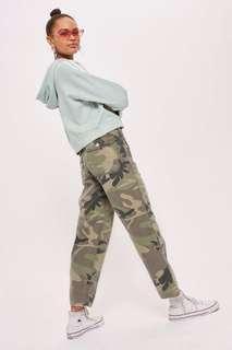 Topshop highwaisted camo pants