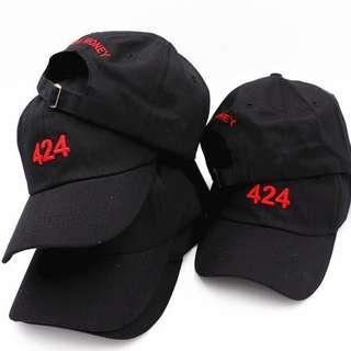 🚚 《實拍》424 老帽 棒球帽 歐美潮流品牌 刺繡logo 黑
