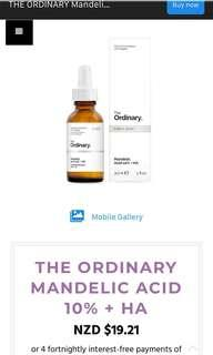 Mandelic acid from the ordinary