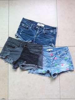Hollister bershka bundle sexy shorts