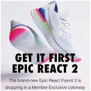 The Nike Epic React Flyknit 2 Releases For January