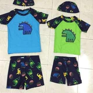 Kids Swimming Suit (Green)