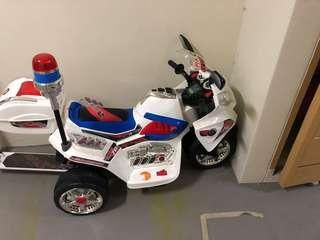 Battery powered motorbike for kids