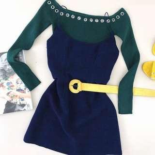 Blame It Mini Dress- Blue