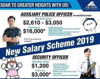 Auxiliary Police or Security Officer Positions Available
