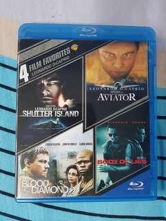 Leonardo Dicaprio 4 film Favorite Bluray