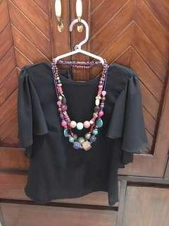 COLORFUL BEADED NECKLACE (3pcs set)