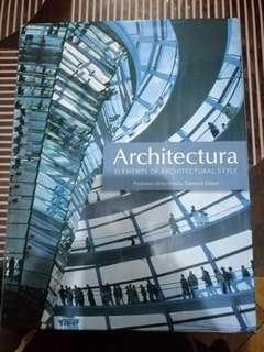 Architectura Elements of Architectural Style Edited by Professor Miles Lewis