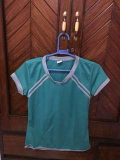 DRI FIT SASSA WORKOUT SHIRT AQUA COLOR