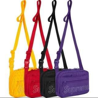🚚 《實拍》Supreme 45th shoulder bags 小包 肩包 黑 紫 黃 紅