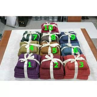 Paket Handuk Polos (2 jumbo 1sedang)