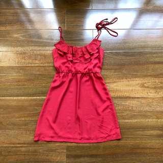 (Size 8) Red Summer Dress