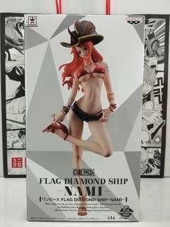 Banpresto One Piece Flag Diamond Ship Nami MISB