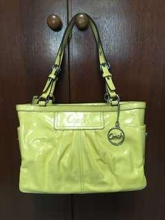 Authentic Coach Yellow Leather Bag