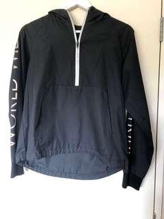 Black stussy wind breaker