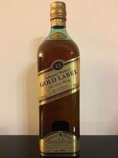 Johnnie Walker Gold Label 15 years Japan edition
