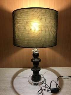 玻璃檯座檯燈 玻璃檯燈 桌燈 床頭燈 閱讀燈 玻璃座燈 燈罩燈  檯燈
