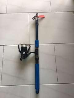 9' fts Telescopic fishing rod and reel set