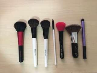 Real techniques morphs elf makeup brushes