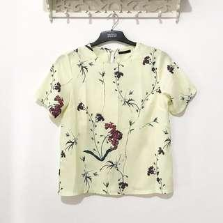 Floral yellow top