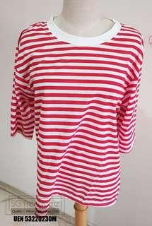 🚚 Basic Korean Style Striped Tshirt