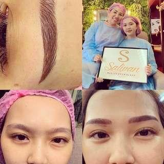 Eyebrow Mircostroking @$288 , free after care cream and free single lash natural looking !!