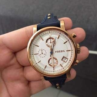 Fossil Boyfriend Chronograph Silver Dial Ladies Watch #reduced
