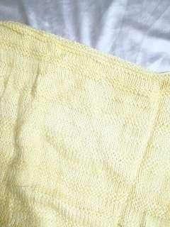 Yellow Knitted Batwing/Dolman Sleeves Sweater