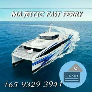 Majestic Ferry to Batam Centre/Sekupang/Tanah Merah/Harbourfront