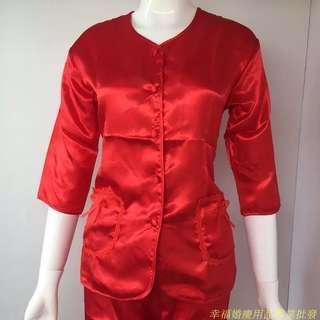 (全新)結婚上頭新娘紅睡衣女裝