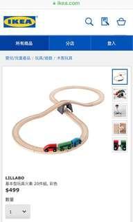 🚚 Ikea木製火車鐵軌玩具